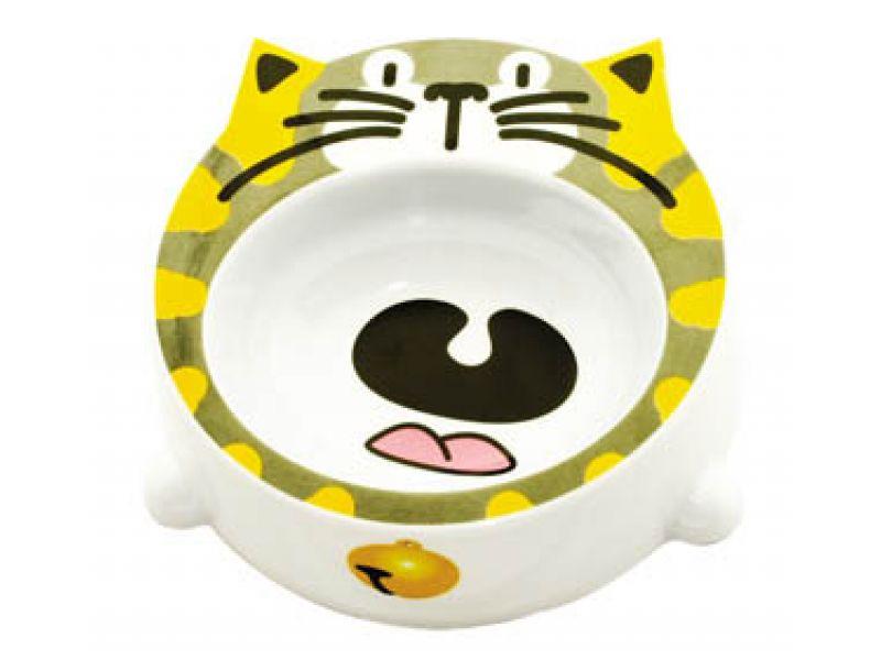 "Миска Dezzie пластиковая ""Кошка"" для кошек, 16*16*4,5см, 200 мл  - Фото"