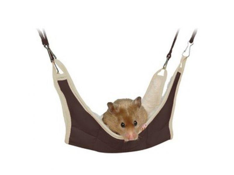Trixie Гамак для мышей и хомяков, нейлон (62691), 18*18 см - Фото