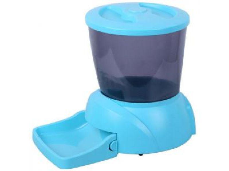 Автокормушка Feedex для кошек и мелких пород собак с ЖК дисплеем PF3 (голубая), на 2 кг корма - Фото