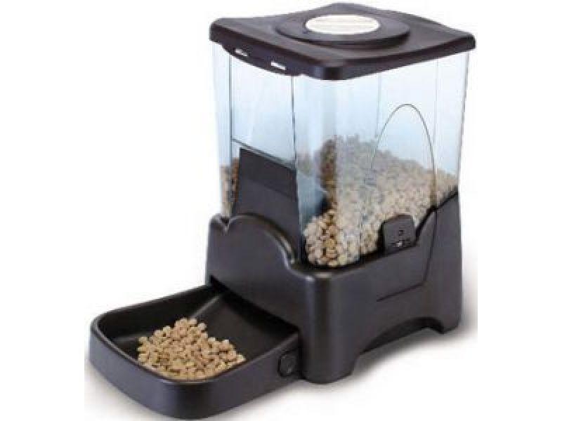Большая автокормушка Feedex для кошек и собак всех пород с ЖК дисплеем PF5, на 6-7 кг корма - Фото