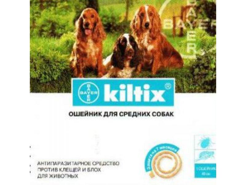 Bayer Килтикс Ошейник от блох и клещей для собак средних пород, 48 см  - Фото