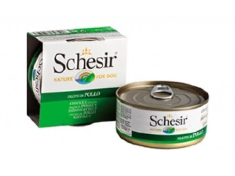 Влажный корм (консервы) Schesir с ЦЫПЛЕНКОМ для взрослых собак (С 680), 150 г - Фото