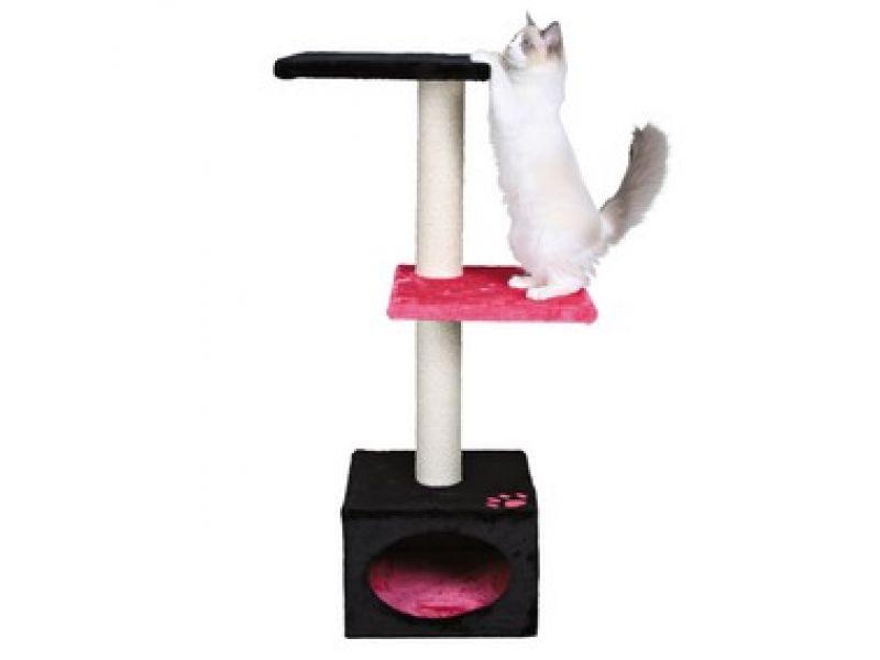 """Trixie Домик для кошки меховой """"Badalona"""" (43451/457), 37*37*109 см - Фото"""