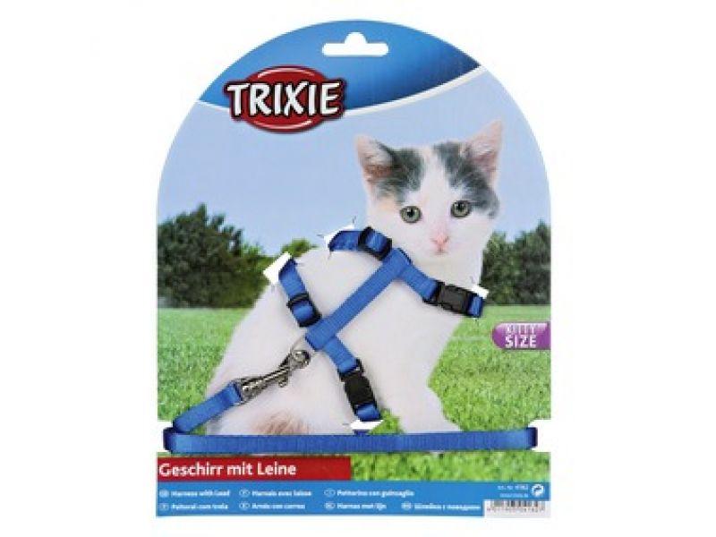 Trixie Шлейка с поводком для КОТЯТ (4182), 19-31см/8мм/1.20 м   - Фото