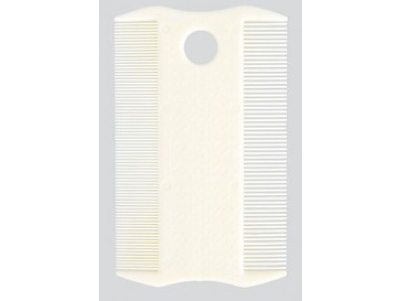 Расческа Trixie ДВУСТОРОННЯЯ, для короткой шерсти, пластик (2400), 14 см - Фото