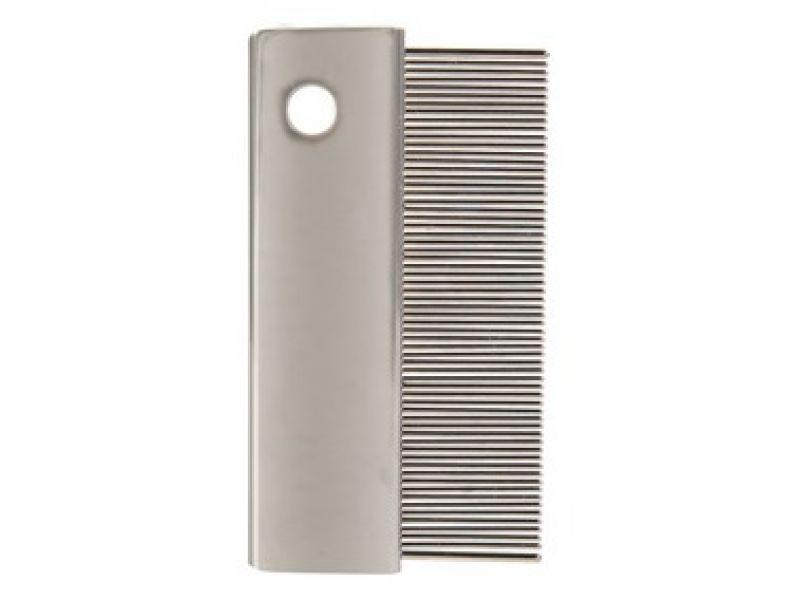 Расческа Trixie ЧАСТАЯ, для короткой шерсти, металл (2401), 6 см  - Фото