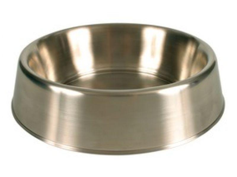 Миска Trixie из нержавеющей стали с резиновым ободком, для собак (24943), 1,8 л - Фото
