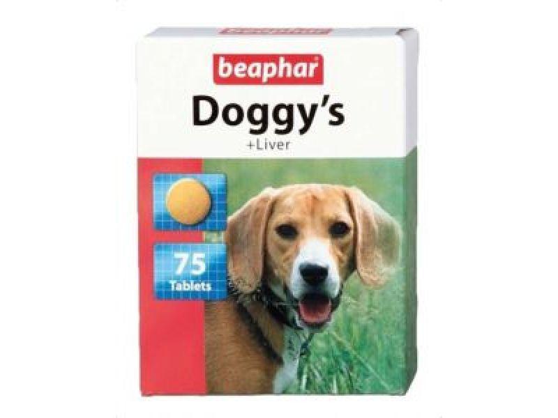 Витамины Beaphar для собак с ЛИВЕРОМ (Doggy`s+Liver), 75 шт. - Фото