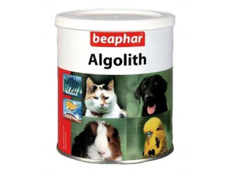 Минеральная смесь Beaphar с МОРСКИМИ ВОДОРОСЛЯМИ для ШЕРСТИ животных (Algolith), 250 гр - Фото