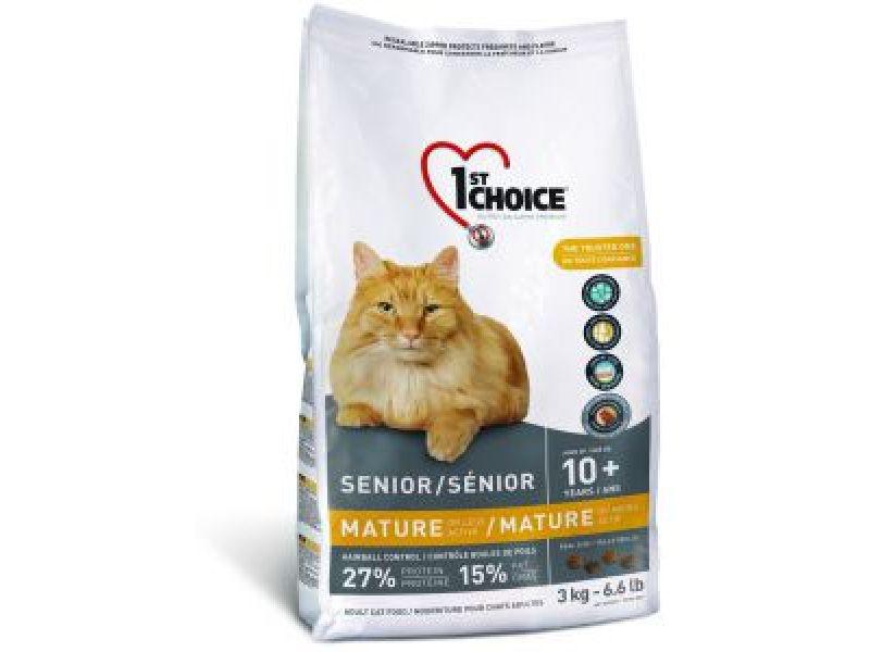 Сухой корм 1st Choice для ПОЖИЛЫХ кошек (старше 10 лет) - на курице (Mature or Less Active), 350 гр - Фото