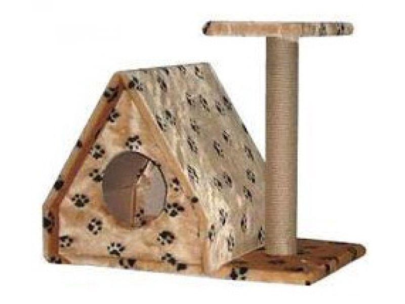 """Пушок Меховой домик для кошки """"Избушка"""", 64*40*52 см - Фото"""