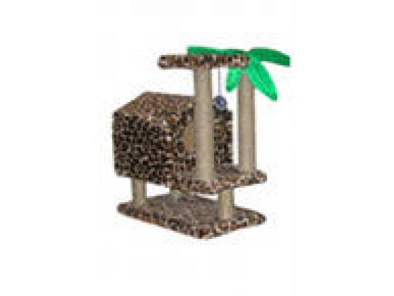 """Пушок Меховой домик для кошки """"Тропический"""" на ножках, 72*41*73 см - Фото"""