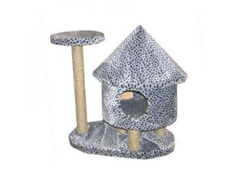 """Пушок Меховой домик для кошки """"Башня"""", 79*54*77 см - Фото"""