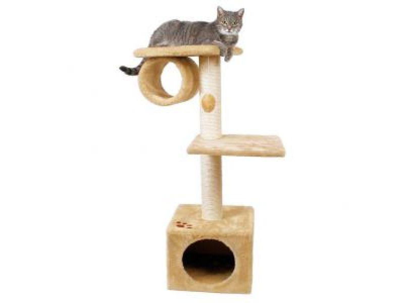 "Trixie Домик меховой для кошки ""San Fernando"" (43951/43952), 36*36*106 см - Фото"