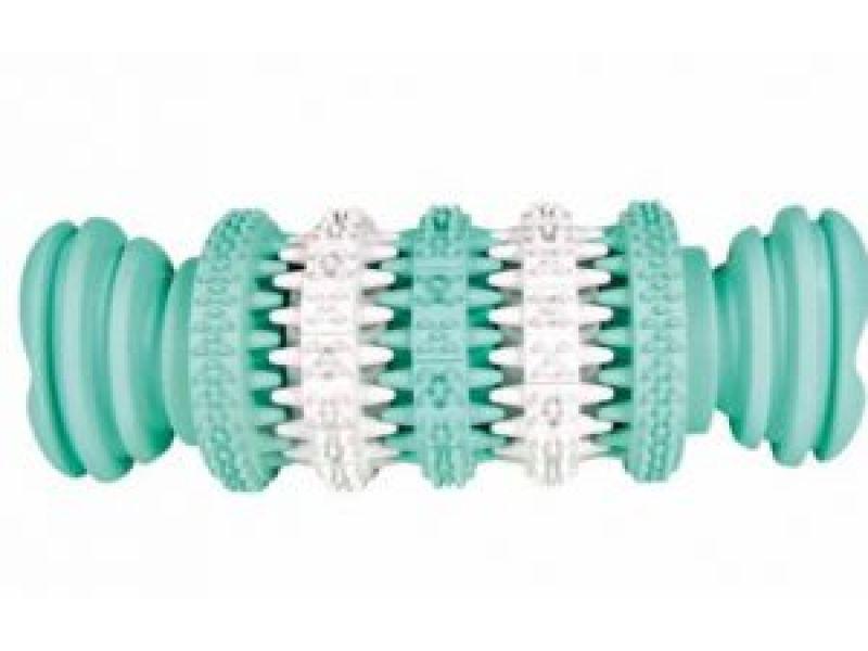 """Trixie Игрушка-кость с мятным вкусом """"Dental Fan"""", для собак, резина (32943), 11,5 см - Фото"""