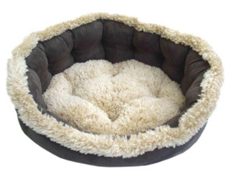 Dezzie Лежак для животных, меховой, 56*48,5*20,5 см  - Фото