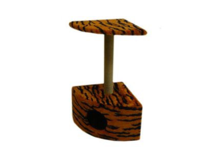 Пушок Меховой домик для кошки угловой, 43*43*80 см - Фото