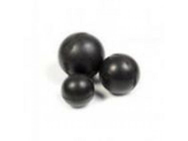 """Игрушка Зооник для собак - """"Мяч цельнорезиновый черный"""", 8 см - Фото"""