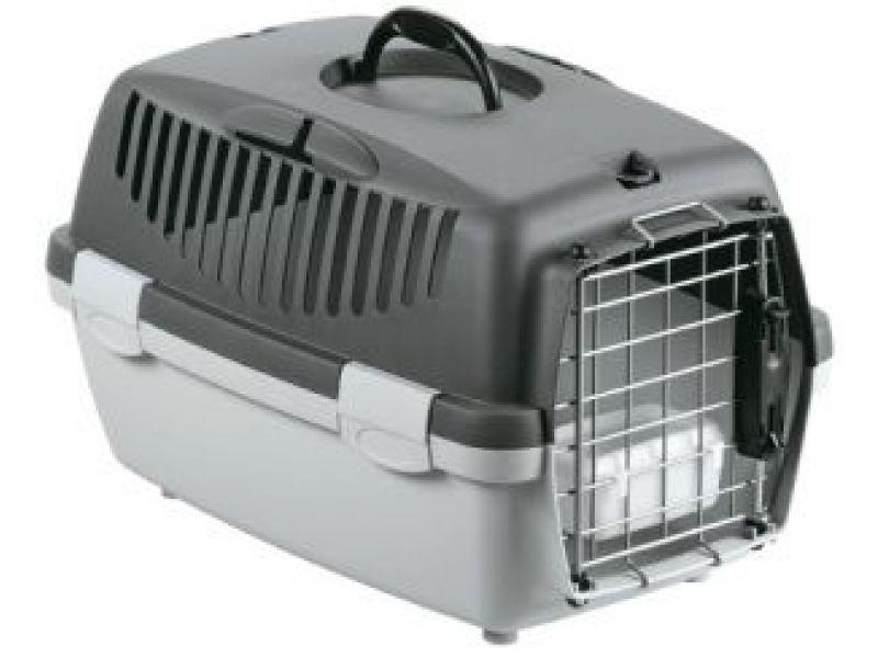 Stefanplast Переноска для АВИАПЕРЕВОЗОК для собак и кошек (до 5 кг) Gulliver 1 IATA, 48*32*31см с миской и металлической дверцей - Фото