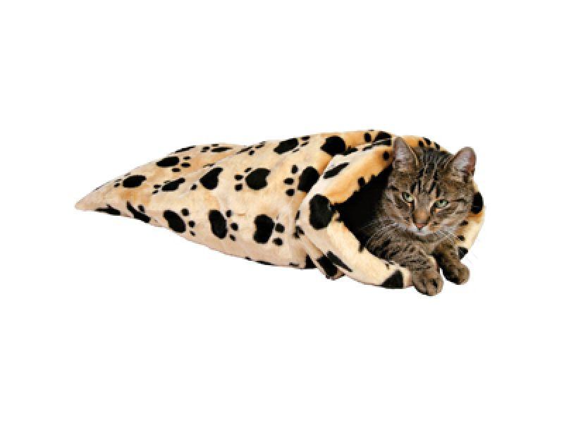 """Игрушка Trixie для кошек - Плюшевый тоннель  """"Кошачьи лапки"""", бежевый (42964), 60 см*37 см - Фото"""