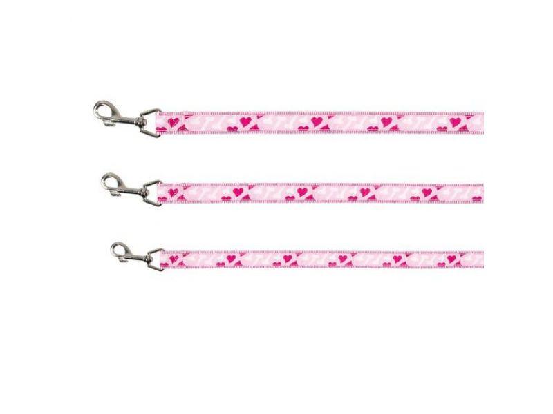 "Trixie Поводок ""Сердце"" для собак и кошек, розовый (15888/898) - Фото"