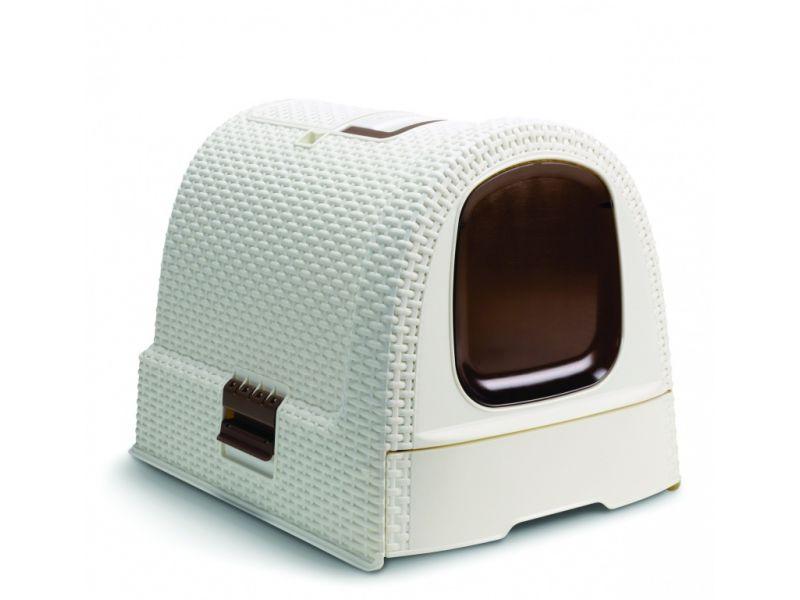 Curver Туалет-домик с совочком для кошек, кремово-коричневый, 51*39*40 см  - Фото