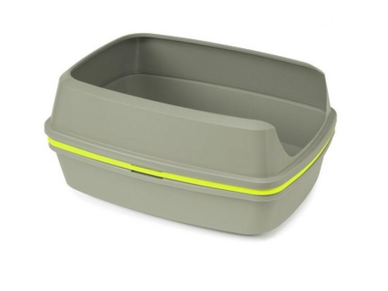 """Moderna Многофункциональный туалет-лоток """"Lift to Sift"""", для кошек, серый+лимонный, 50,2*38,4*24,1 см - Фото"""