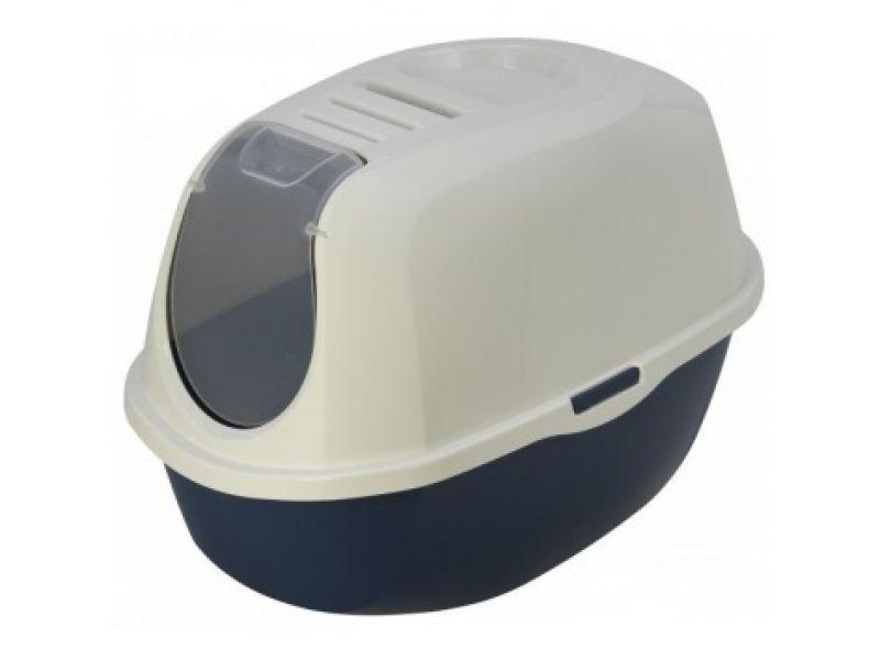 Туалет Moderna закрытый SmartCat с угольным фильтром, черничный, 54*40*41 см - Фото