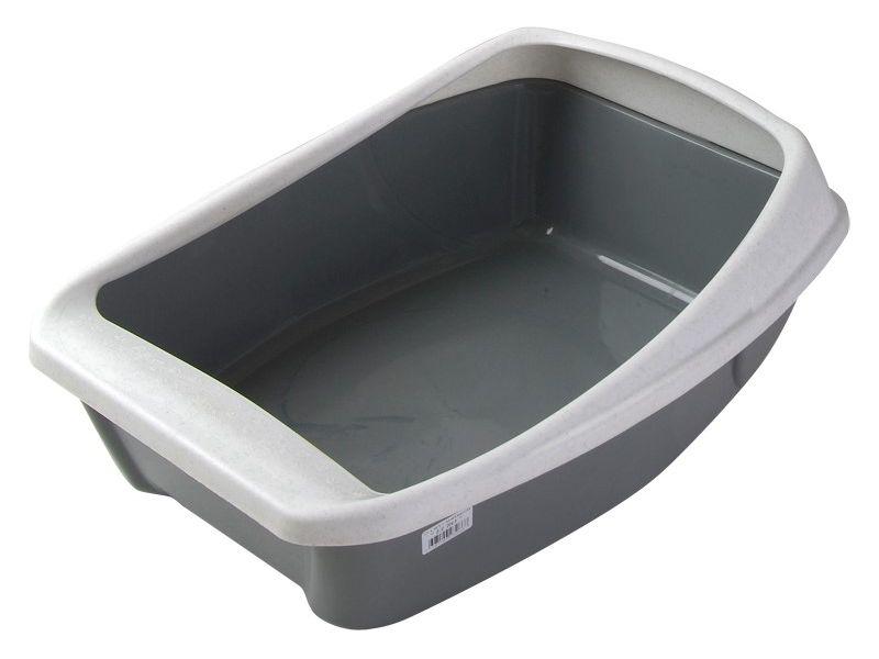 Сибирская кошка Туалет Евро с бортиком, глубокий, 44*32*16 см - Фото