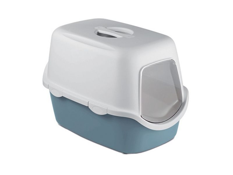 Stefanplast Туалет закрытый Cathy, для кошек, синий, 56*40*40 см - Фото