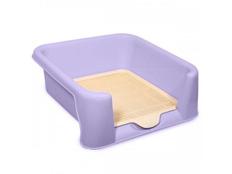 Triol Туалет малый с сеткой,для собак, РАЗНЫЕ ЦВЕТА, 42*42*15 см   - Фото