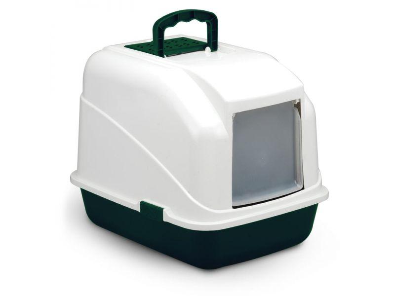 Triol Туалет закрытый, с угольным фильтром, для кошек и собак, 48*40*41 см   - Фото