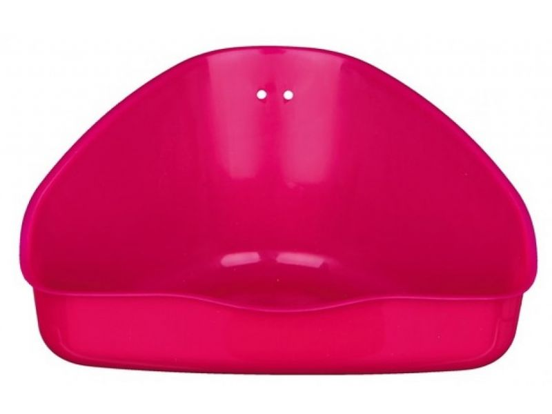 Trixie Туалет угловой для морских свинок и кроликов, пластик (62551), 36*21*30/30 см  - Фото