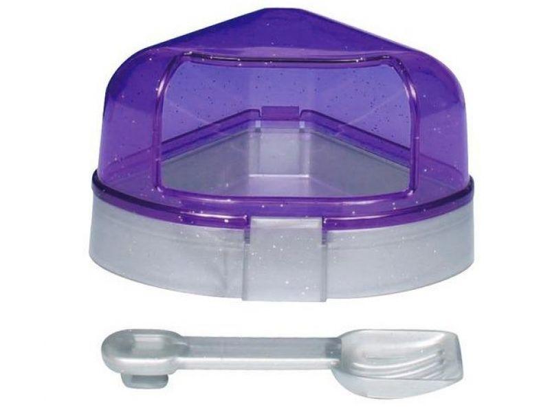 Trixie Туалет угловой с крышкой для грызунов, пластик (6256), 14*8*11/11 см  - Фото