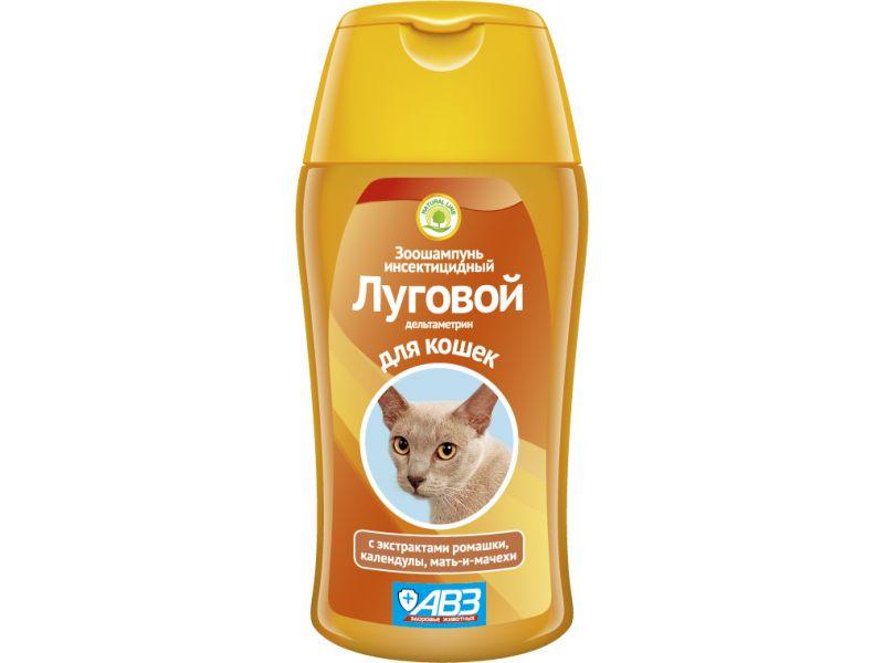 """Агроветзащита Шампунь """"Луговой"""" от блох и клещей для кошек, 180 мл    - Фото"""