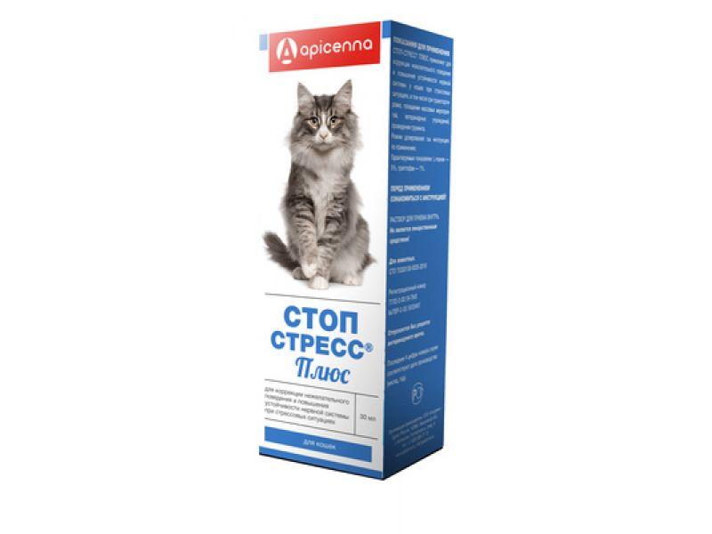 Апи-Сан (Apicenna) Капли СТОП-СТРЕСС плюс, для кошек, 30 мл - Фото