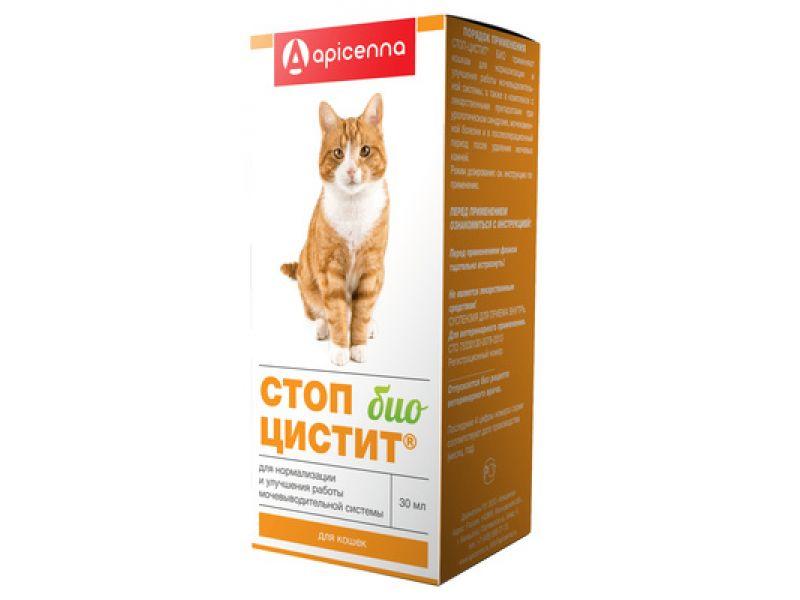 Апи-Сан (Apicenna) Суспензия СТОП-ЦИСТИТ БИО - лечение и профилактика МКБ, для кошек, 30 мл - Фото
