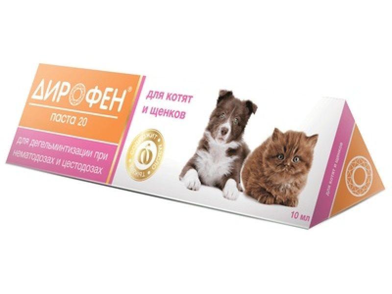 Апи-Сан (Apicenna) Дирофен 20 - ПАСТА от глистов для котят и щенков, 6 мл   - Фото