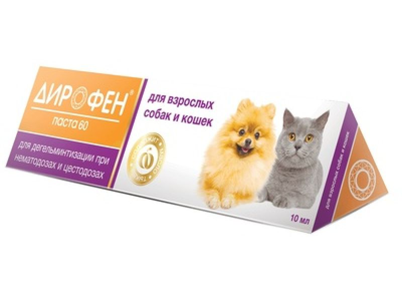 Апи-Сан (Apicenna) Дирофен 60 - ПАСТА от глистов для кошек и собак, 10 гр  - Фото