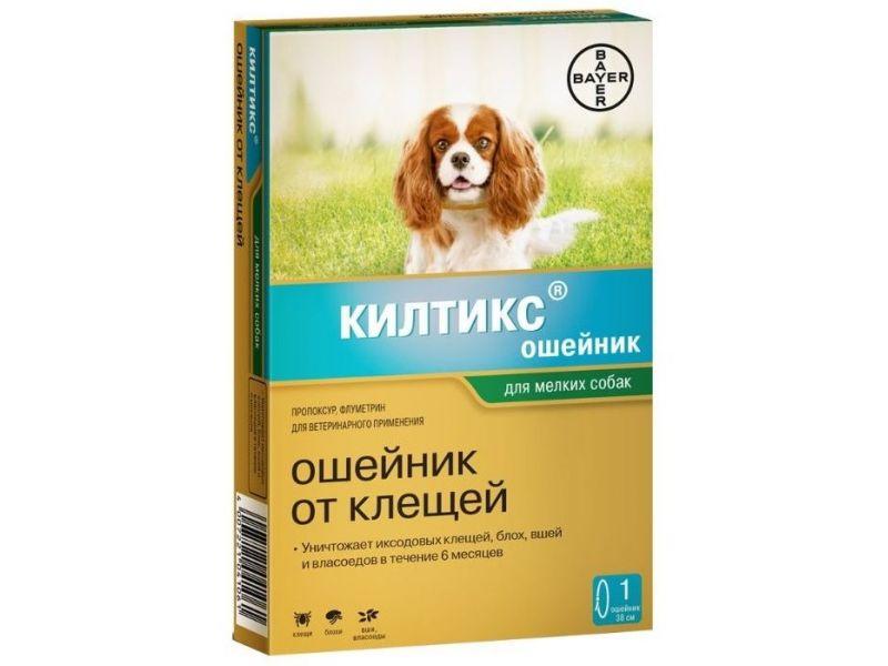 Bayer Килтикс Ошейник от блох и клещей для собак малых пород, 38 см - Фото