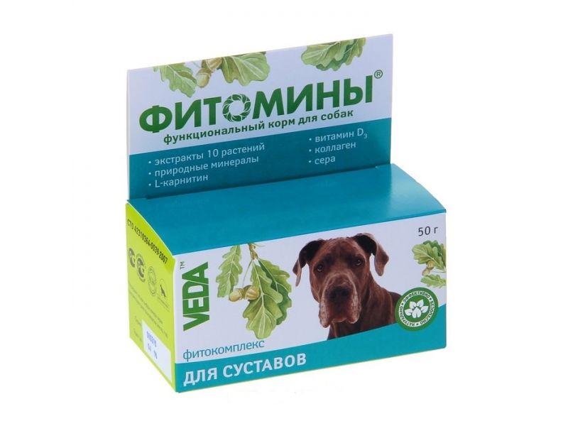 Веда Фитомины (собаки) для укрепления и восстановления Суставов, 100 таб. - Фото
