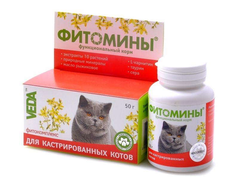 Веда Фитомины для кастрированных котов, 100 таб.  - Фото