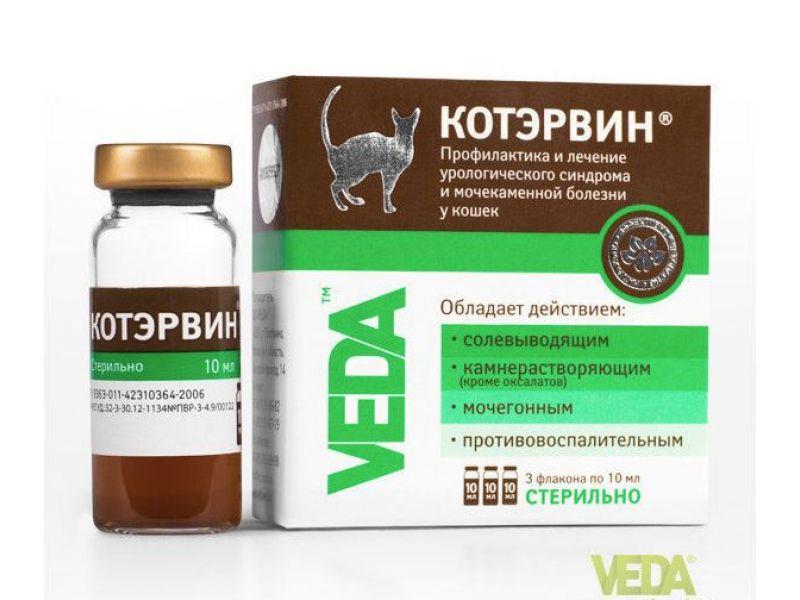 Веда КОТЭРВИН - для лечения и профилактики МКБ, 3 флакона по 10 мл - Фото