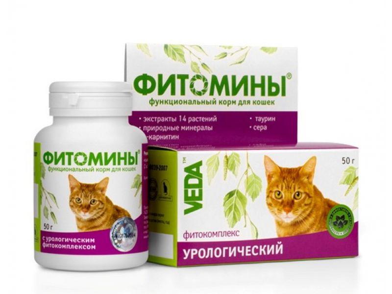 """Веда Фитомины """"Урологический фитокомплекс"""" для кошек, 100 таб. - Фото"""