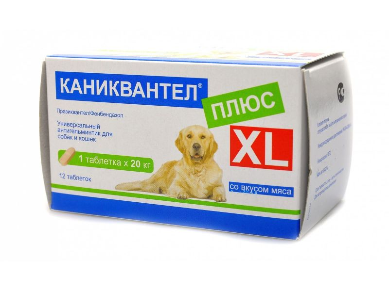 Maramed Pharma Каниквантел XL Таблетки от глистов для собак и кошек, 12 шт.  - Фото