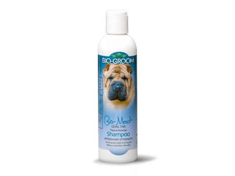 BioGroom ДЕГТЯРНО-СЕРНЫЙ шампунь: от 1 к 2 для собак и кошек (Bio Med Shampoo), 236 мл - Фото